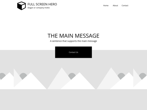 Fullscreen Hero website template