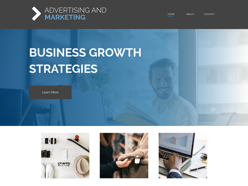 Advertising and Marketing website template