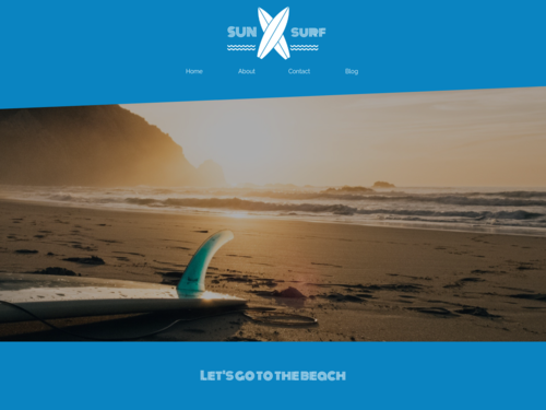 Surfer website template