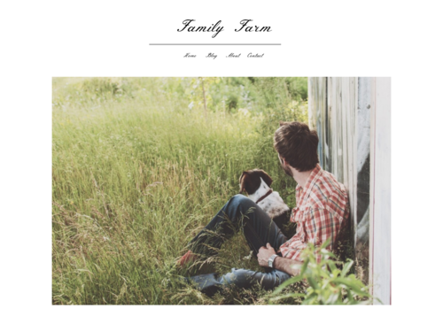 Family Blog website template