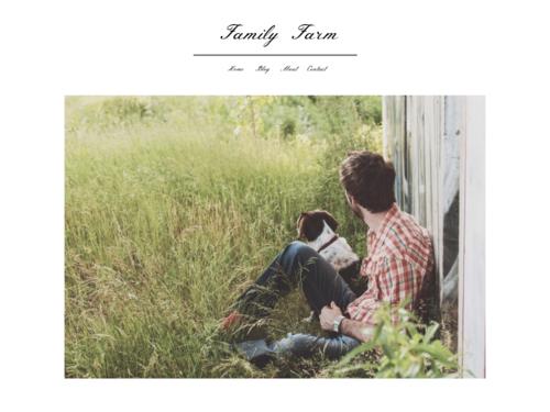 Family Farm website template