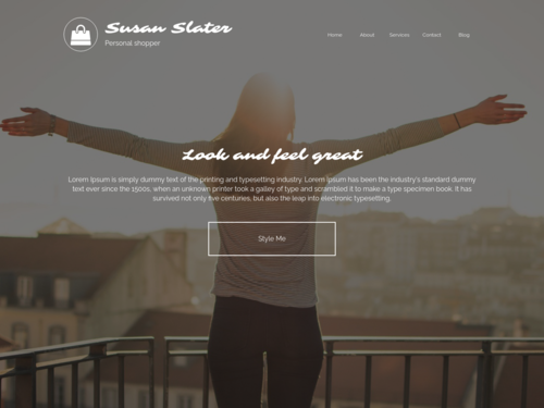 Personal Shopper website template