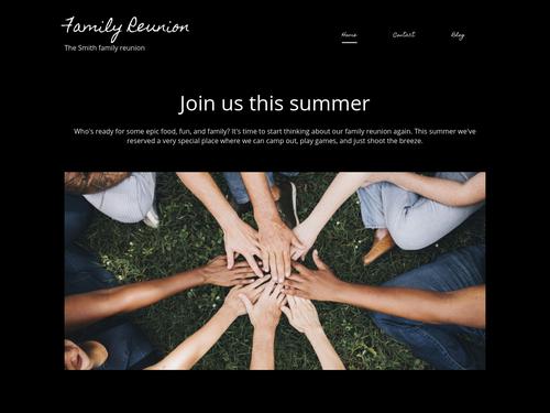 Family Reunion website template
