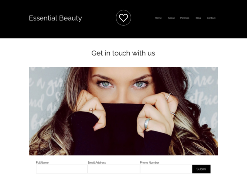 Beauty Portfolio website template