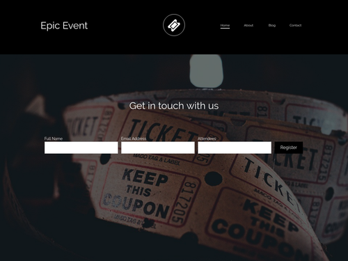 Epic Event website template