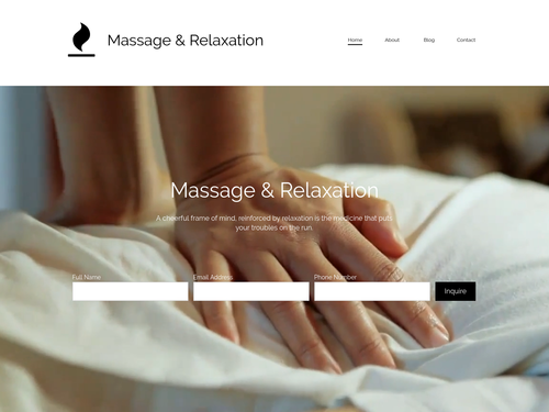 Massage and Relaxation website template