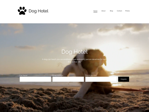 Dog Hotel website template