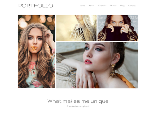 Models Portfolio website template