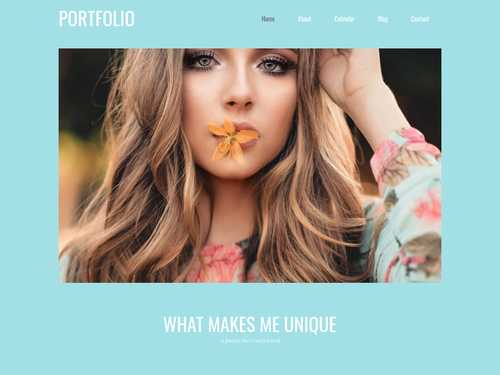 Modeling website template