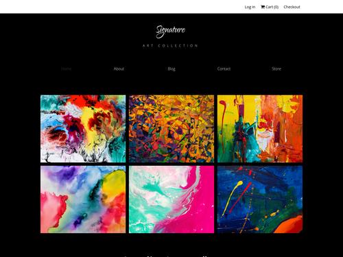 Art Store website template