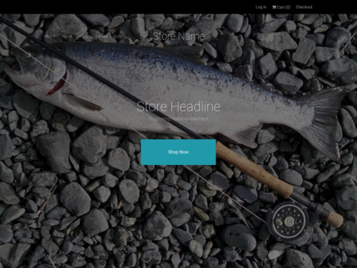 Fishing Store website template