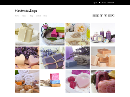 Soap Store website template