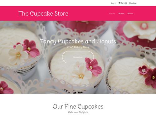 Cupcake Store website template