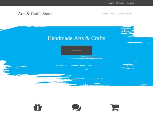 Crafts Store website template