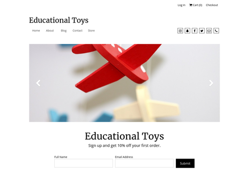 Educational Toy Store website template