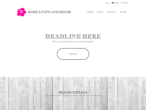 Home Living and Decor Store website template