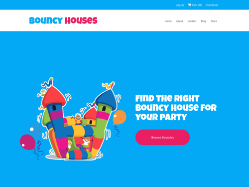 Bouncy House website template