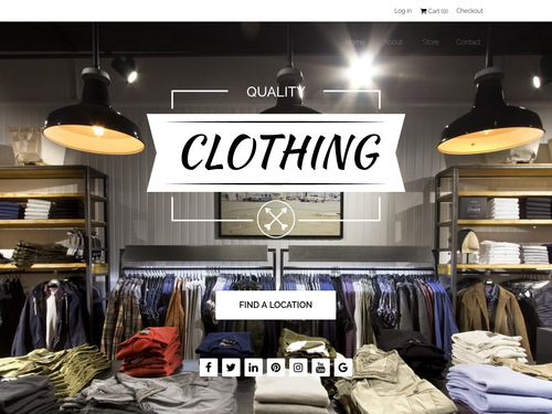 Fashion Store Too website template