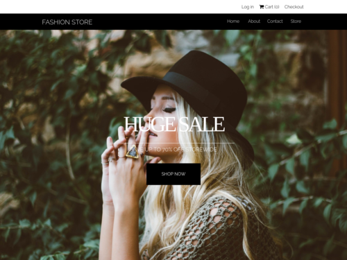 Fashion Store website template