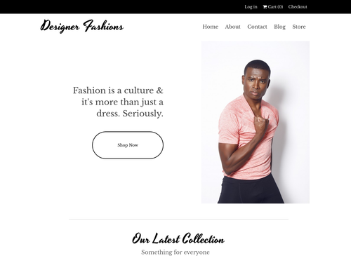 Designer Fashion Store website template