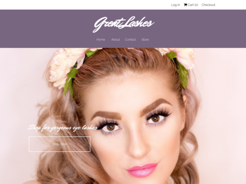 Eye Lashes website template