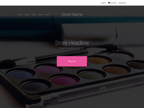 Make Up website template