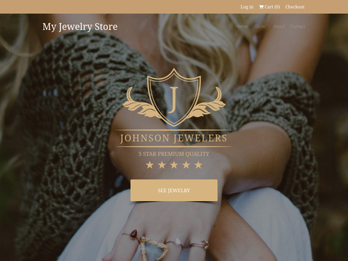 Jewelry fashions website template