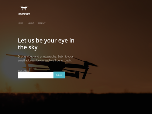 Drone website template