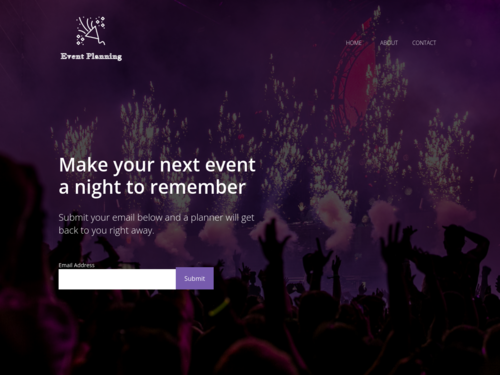 Event Planning website template