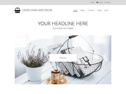 Home Decor Store website template