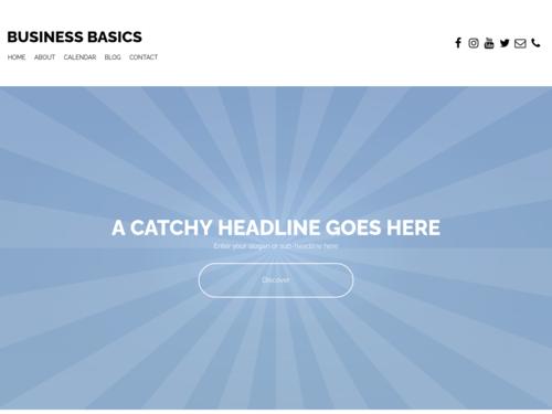 Business Basics Blue website template