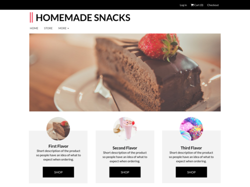 Bake Store website template