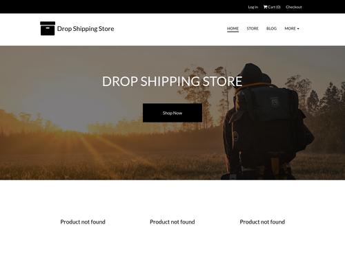 Outdoor Drop Shipping website template