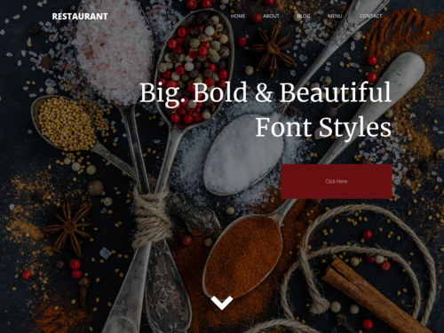 Menu Tim website template
