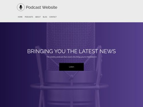 Podcast website template