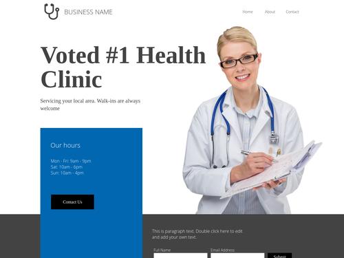 Health Clinic website template