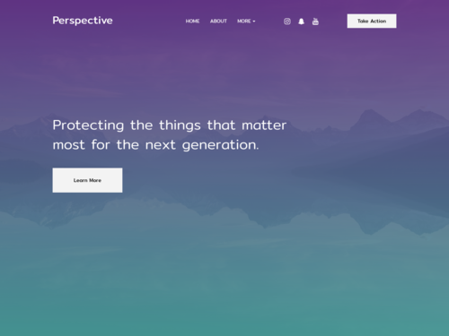 Activist website template