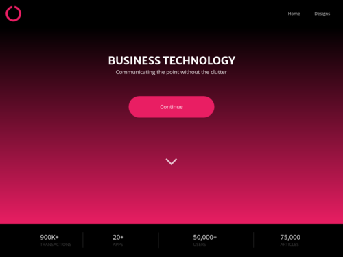 Minimalist Landing Page website template