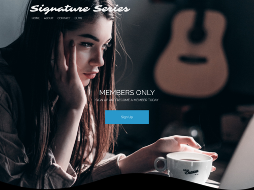 Signature Series website template