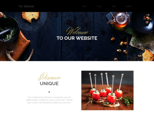 Restaurant 2021 website template