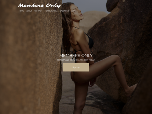 Members Only website template