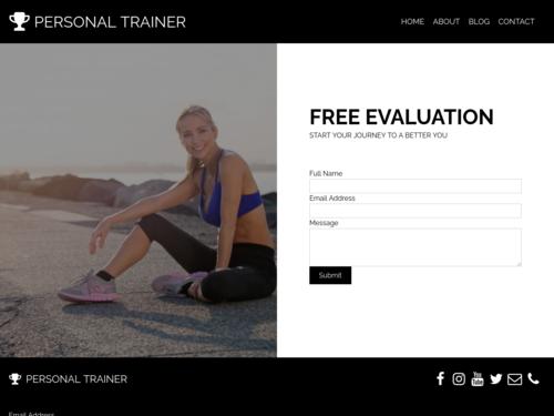 Fitness Coach website template