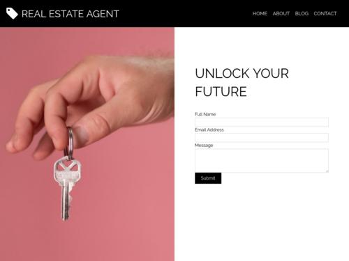 Real Estate Agent Responsive website template