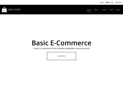 Basic Ecommerce website template