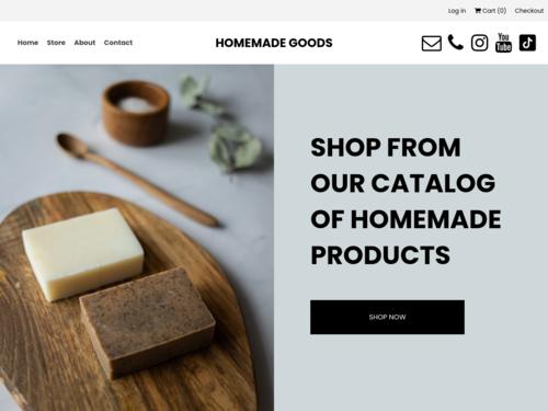 Homemade Goods website template