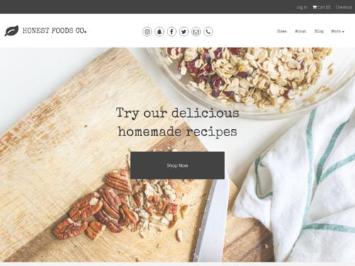 Homemade Food Store website template
