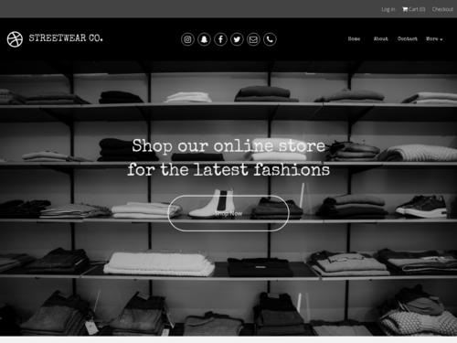 Streetwear Co website template