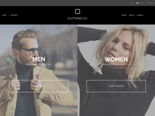 Clothing Co website template