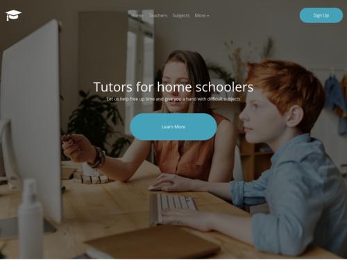 Homeschool Tutor website template