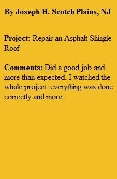 Roofing Repair Scotch Plains NJ